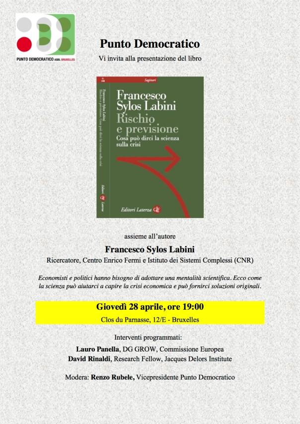Locandina 28 aprile - Sylos Labini